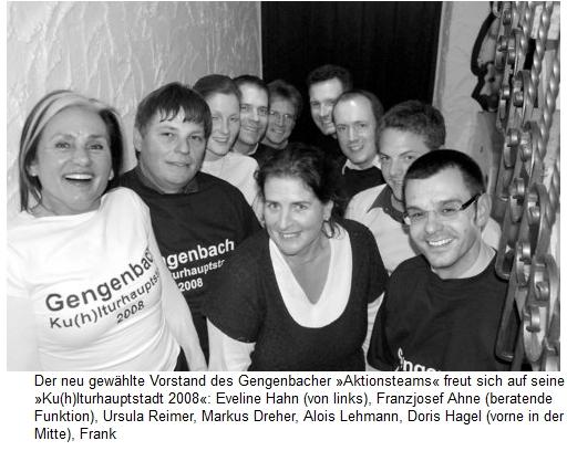 Aktionsteam Gengenbach - Offenburger Tageblatt - Neue Ideen für Kulturhauptstadt und Neuwahlen