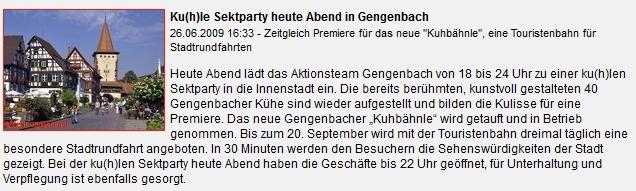 Aktkonsteam Gengenbach - Kuhle Sektparty zum Kuhbähnle