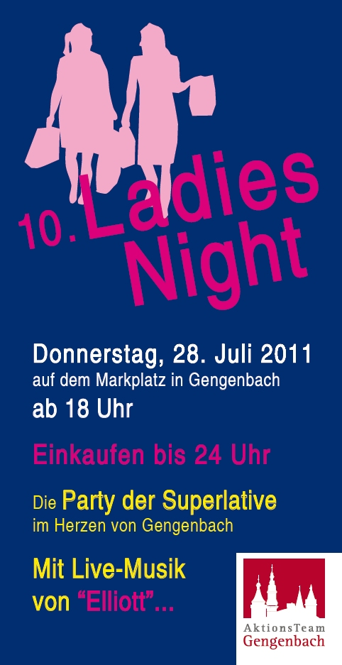 Aktionsteam Gengenbach - Flyer - Ladies Night 2011