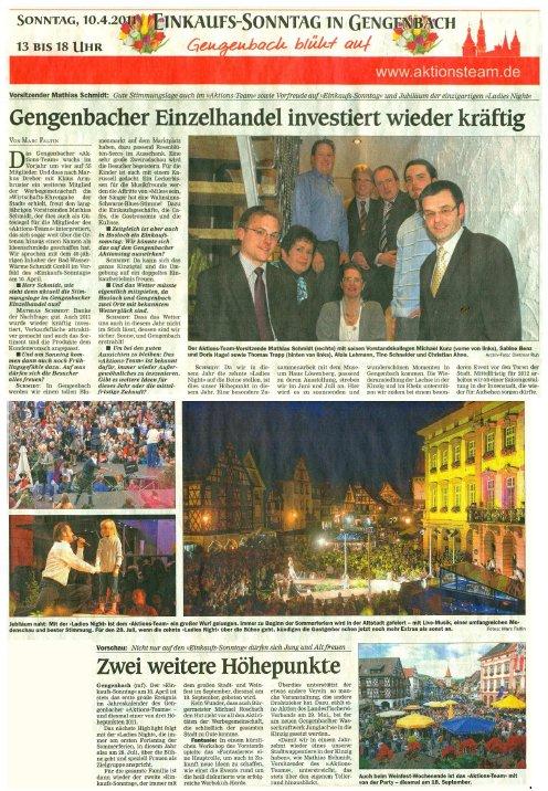Aktionsteam Gengenbach - Zeitungsbericht - OT - 06.04.2011 - Teil 3