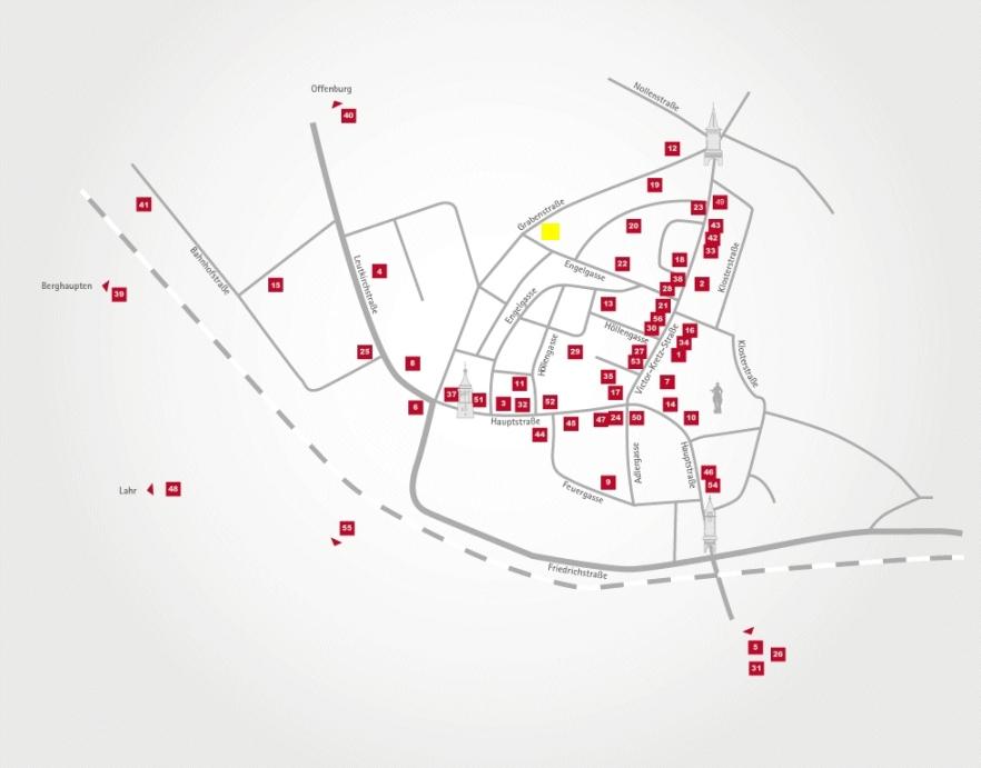 Aktionsteam Gengenbach - Stadtplan - Morlok Mode - Bärbel und Edmund Morlok - Gengenbach