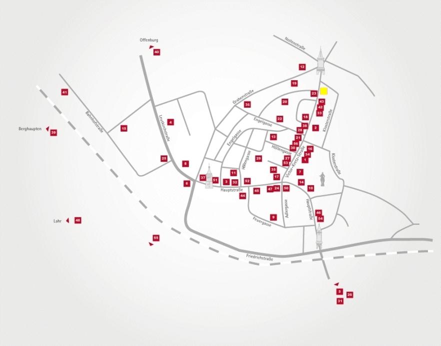 Aktionsteam Gengenbach - Stadtplan - Stadtcafe Alt-Gengenbach - Herr Dorer - Gengenbach