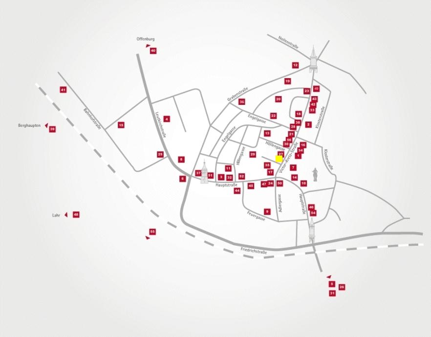 Aktionsteam Gengenbach - Stadtplan - Volksbank Lahr - Michael Kunz - Gengenbach