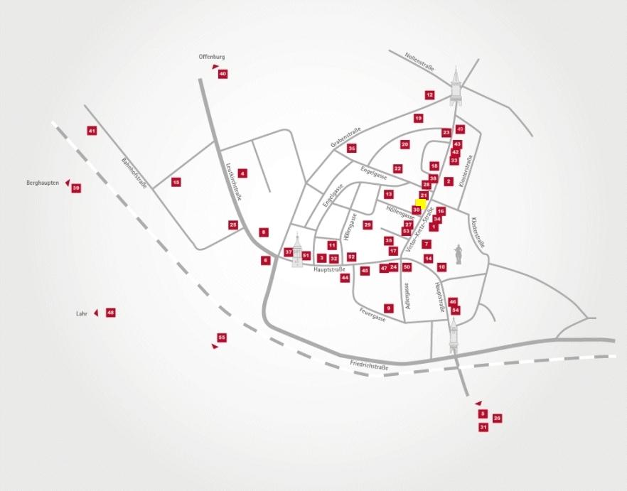 Aktionsteam Gengenbach - Stadtplan - Zimmermann Reisebüro - Franz Zimmermann - Gengenbach