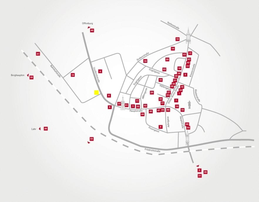 Aktionsteam Gengenbach - Stadtplan - Blumen Haas - Isolde Harter