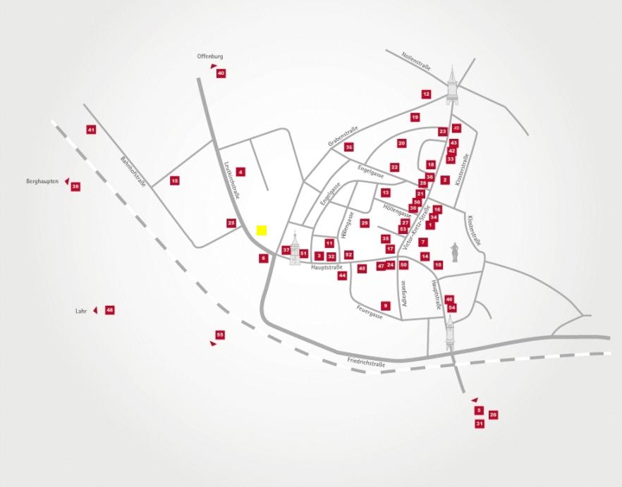 Aktionsteam Gengenbach - Stadtplan - Standort Büchler - Schmuck/Uhren/Optik