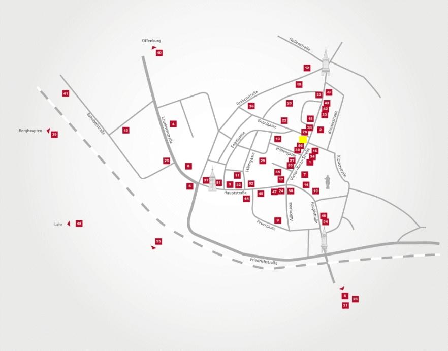 Aktionsteam Gengenbach - Stadtplan - Gasthaus Mercyscher Hof - Gabriele Basler