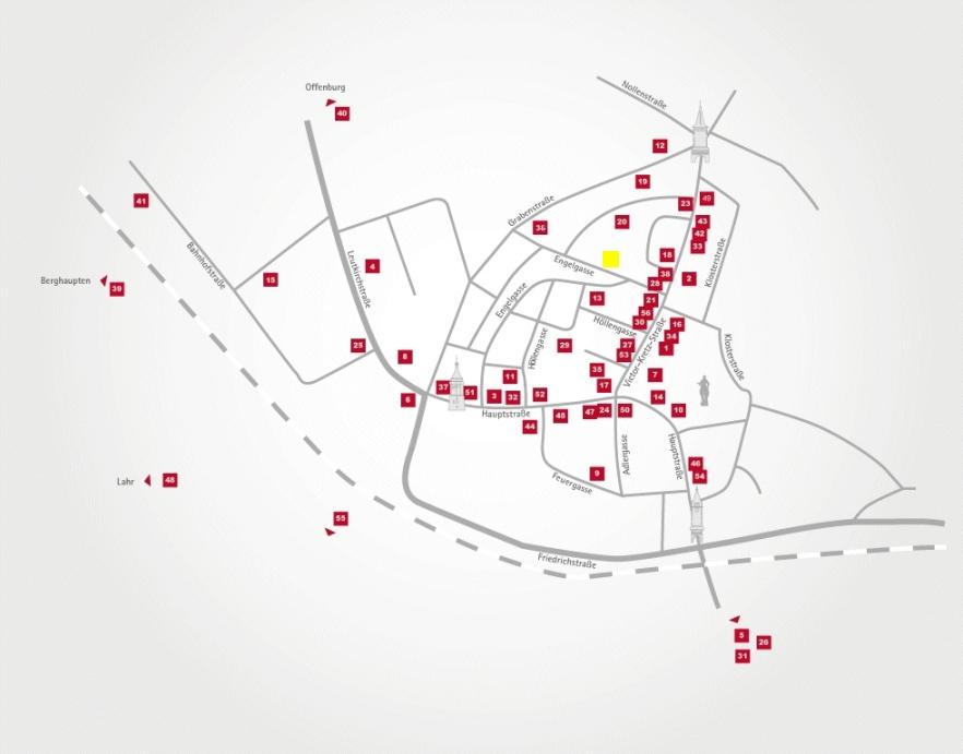 Aktionsteam Gengenbach - Stadtplan - Gasthaus Reichsstadt - Gerhard Hummel